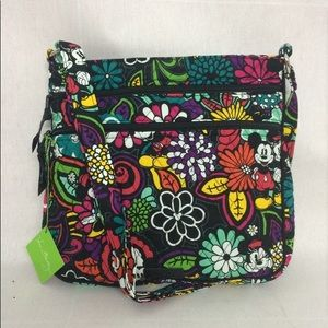 New Vera Bradley Triple Zip Hipster Disney mickey